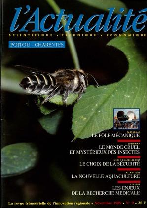 L'Actualité Scientifique, Technique, Économique Poitou-Charentes, numéro 9, novembre 1989